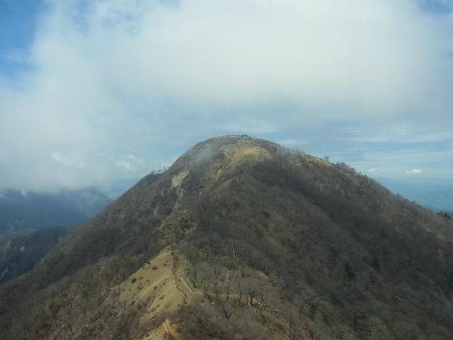 蛭ヶ岳(白馬尾根~鬼ヶ岩)コースガイド 鬼ヶ岩からの蛭ヶ岳【登山口ナビ】