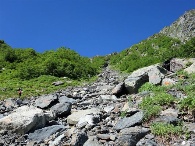 北岳(左俣コース)登山口コースガイド 岩の目印【登山口ナビ】