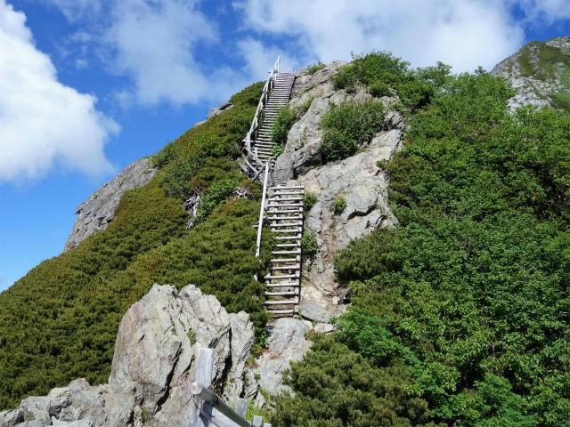 北岳(左俣コース)登山口コースガイド 岩稜の階段【登山口ナビ】