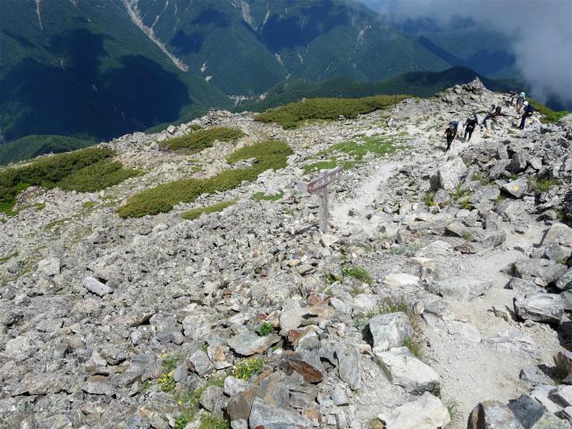 北岳(左俣コース)登山口コースガイド 両俣小屋分岐【登山口ナビ】