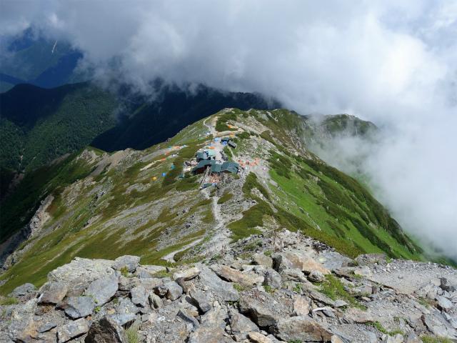 北岳(左俣コース)登山口コースガイド 北岳肩ノ小屋【登山口ナビ】