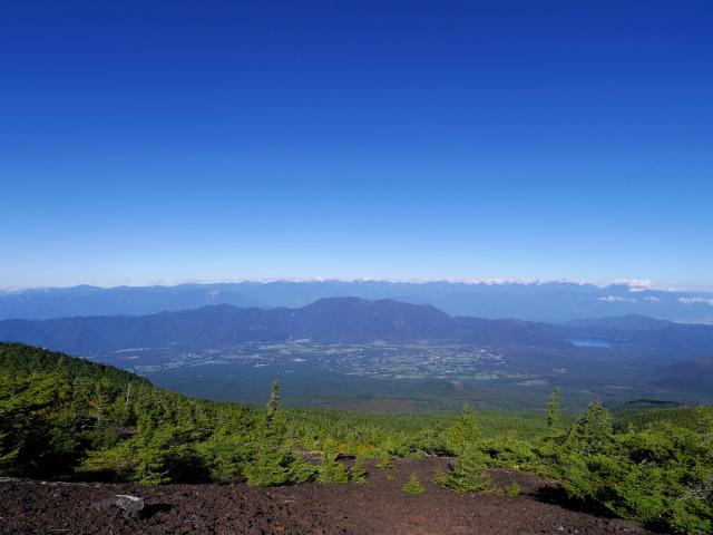 富士山 御中道(大沢崩れ) 登山口コースガイド 工事用道路から南アルプス・天子山地の眺望【登山口ナビ】