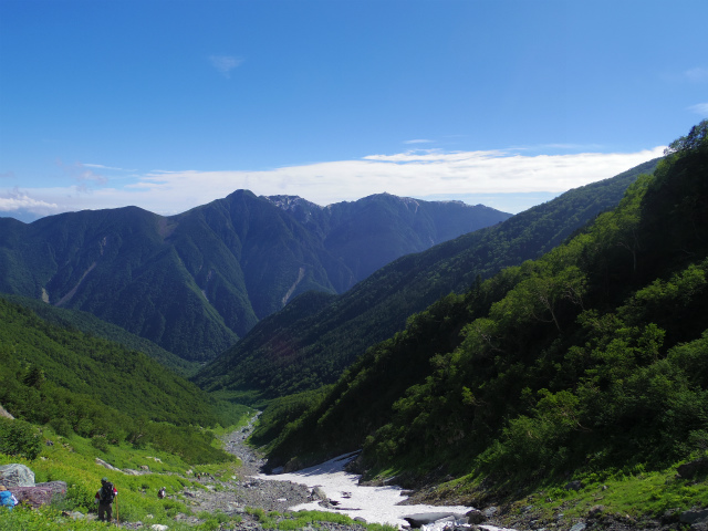 北岳(左俣コース)登山口コースガイド 大樺沢上部からの鳳凰三山【登山口ナビ】