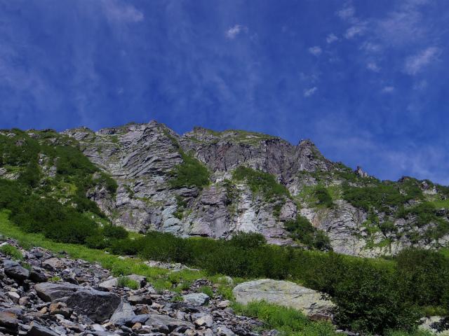 北岳(左俣コース)登山口コースガイド 大樺沢からの北岳バットレス【登山口ナビ】