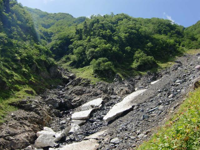 北岳(左俣コース)登山口コースガイド 大樺沢源頭【登山口ナビ】