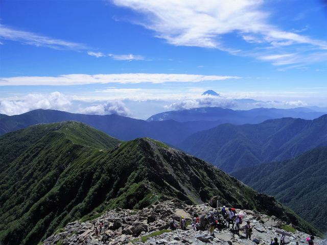 北岳(左俣コース)登山口コースガイド 北岳山荘分岐【登山口ナビ】