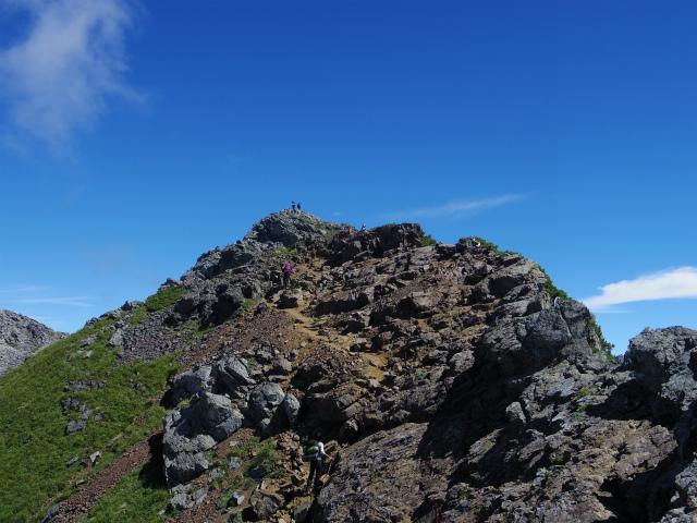 北岳(左俣コース)登山口コースガイド 北岳山頂直下の登り【登山口ナビ】
