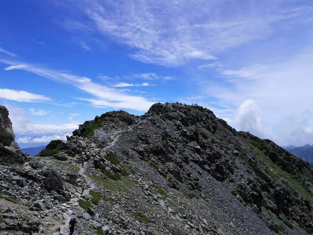 北岳(左俣コース)登山口コースガイド 両俣小屋分岐からの北岳【登山口ナビ】