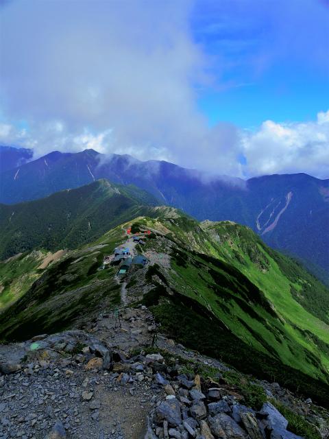 北岳(左俣コース)登山口コースガイド 北岳肩ノ小屋への下り【登山口ナビ】