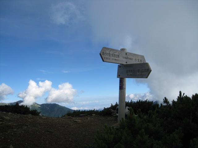 北岳(左俣コース)登山口コースガイド 小太郎尾根分岐【登山口ナビ】