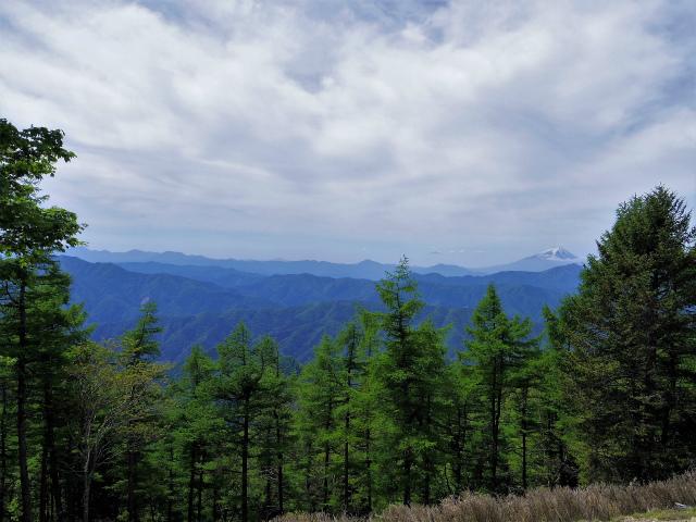 雲取山(七ツ石山・鴨沢ルート)登山口コースガイド 七ツ石山山頂からの富士山と大菩薩連嶺【登山口ナビ】