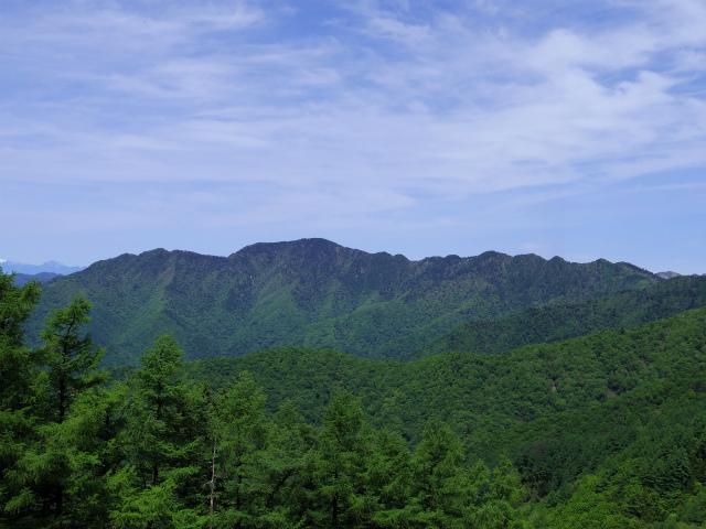 雲取山(七ツ石山・鴨沢ルート)登山口コースガイド 七ツ石山山頂からの飛龍山【登山口ナビ】