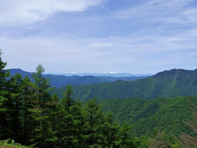 雲取山(七ツ石山・鴨沢ルート)登山口コースガイド 七ツ石山からの南アルプス稜線【登山口ナビ】