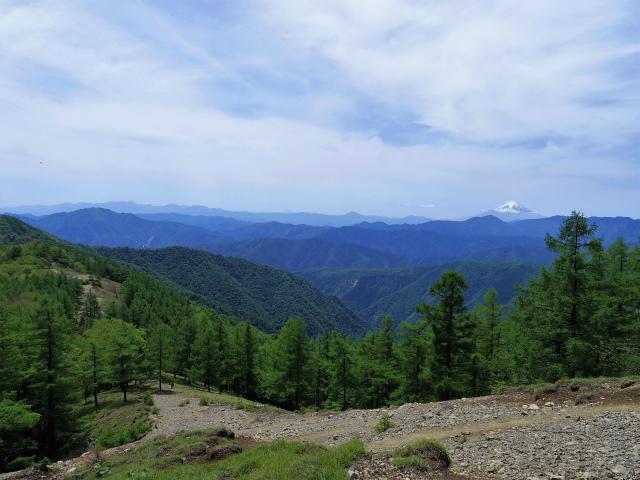 雲取山(七ツ石山・鴨沢ルート)登山口コースガイド ヨモギノ頭からの富士山や丹沢山地【登山口ナビ】
