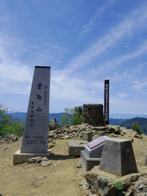 雲取山(七ツ石山・鴨沢ルート)登山口コースガイド 山頂標柱【登山口ナビ】