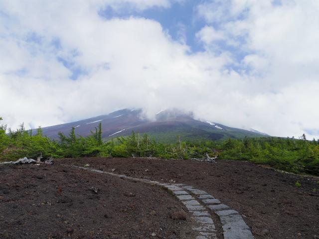 富士山 御中道(大沢崩れ) 登山口コースガイド 御庭からの富士山山頂【登山口ナビ】