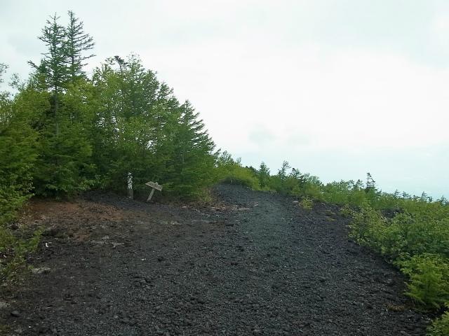 富士山 御中道(大沢崩れ) 登山口コースガイド 工事用道路登山道分岐【登山口ナビ】