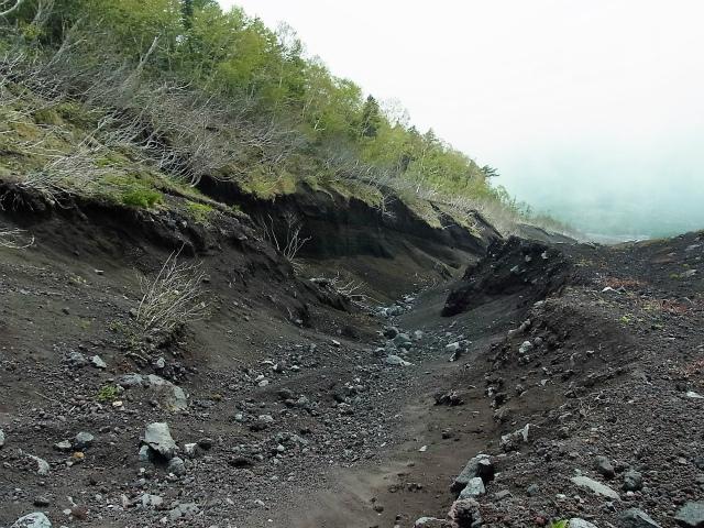 富士山 御中道(大沢崩れ) 登山口コースガイド 滑沢崩れ【登山口ナビ】