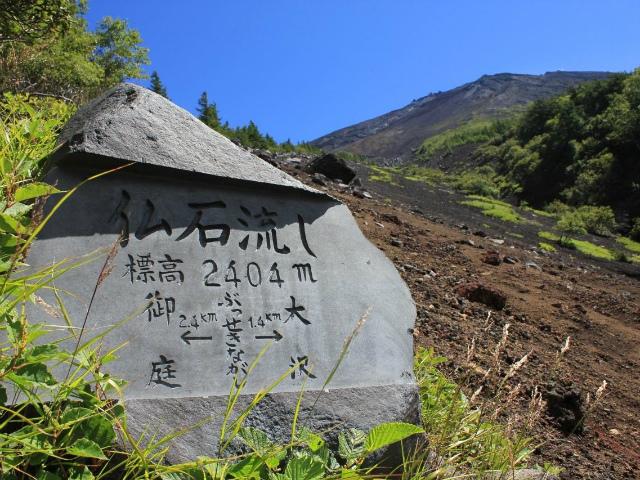 富士山 御中道(大沢崩れ) 登山口コースガイド 仏石流し【登山口ナビ】