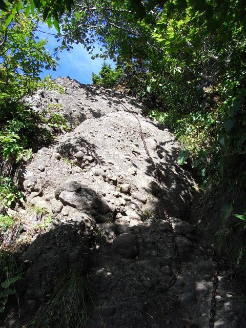 戸隠山(西岳・本院岳~P1尾根) 登山口コースガイド 鎖場【登山口ナビ】