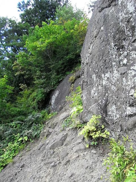 戸隠山(本院岳~P1尾根) 登山口コースガイド トラバース鎖場【登山口ナビ】