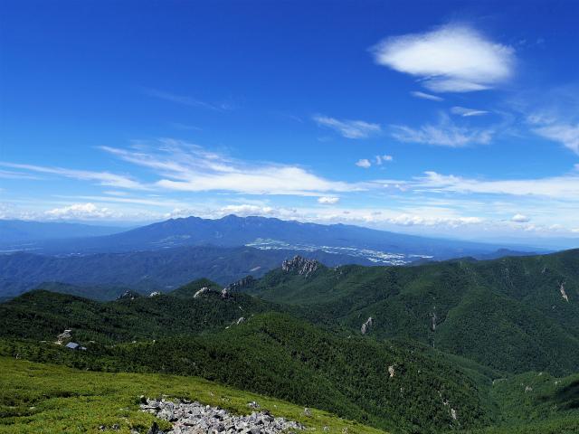 金峰山・五丈石(大弛峠~朝日岳)登山口コースガイド 稜線からの八ヶ岳の眺望【登山口ナビ】