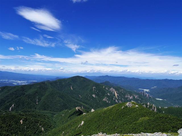 金峰山・五丈石(大弛峠~朝日岳)登山口コースガイド 稜線からの小川山・北アルプスの眺望【登山口ナビ】
