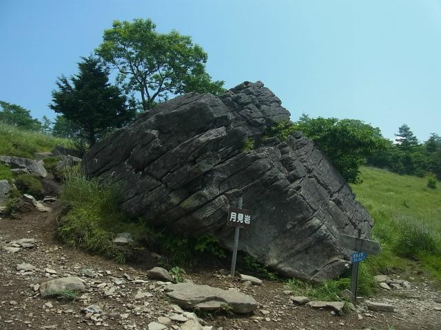 乾徳山(銀晶水・徳和コース)登山口コースガイド 月見岩【登山口ナビ】