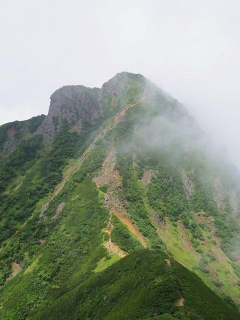 八ヶ岳・阿弥陀岳(南沢~中岳のコル) 登山口コースガイド 中岳山頂からの阿弥陀岳【登山口ナビ】