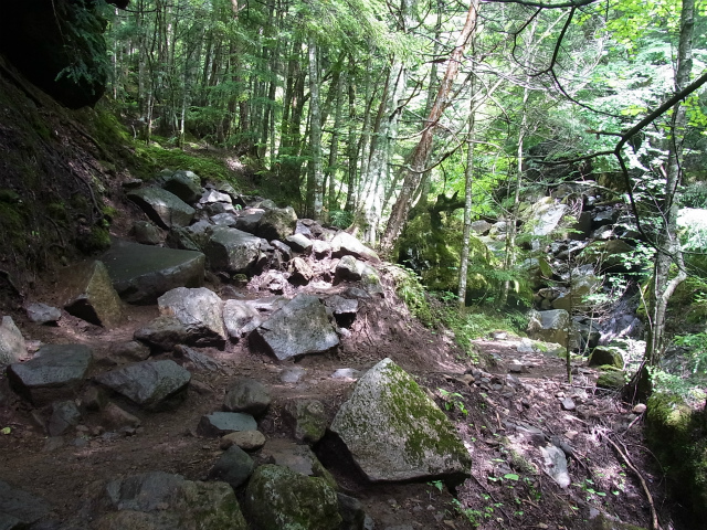 八ヶ岳・赤岳(南沢~文三郎尾根) 登山口コースガイド 南沢コース【登山口ナビ】