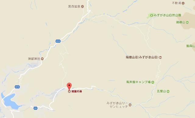 瑞牆山麓 ラジウム鉱泉 増富の湯 地図【登山口ナビ】