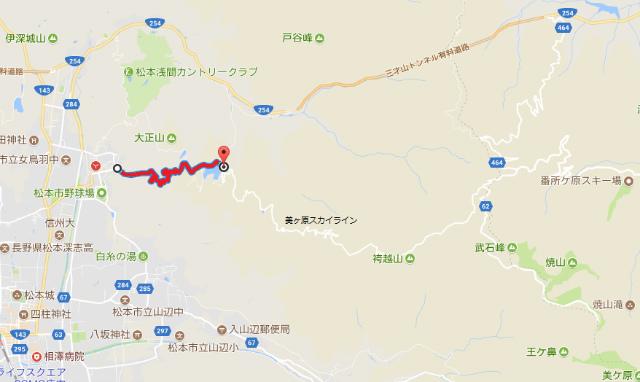 【美ヶ原高原】美ヶ原林道の通行規制地図【登山口ナビ】