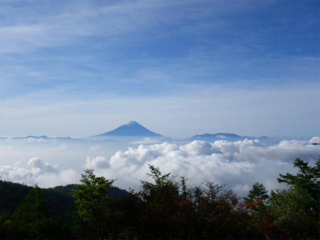 辻山(甘利山~千頭星山)登山口コースガイド 奥甘利山山頂からの富士山【登山口ナビ】