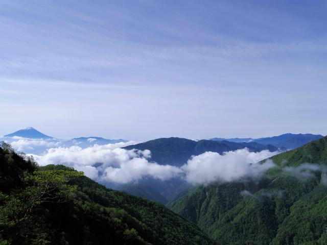 辻山(甘利山~千頭星山)登山口コースガイド 櫛形山と富士山【登山口ナビ】