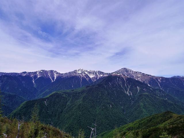 辻山(甘利山~千頭星山)登山口コースガイド 辻山山頂からの白峰三山【登山口ナビ】