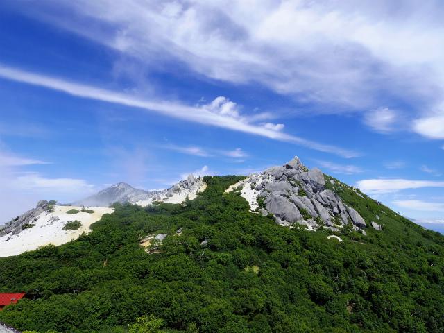 鳳凰三山(夜叉神峠~砂払岳)登山口コースガイド 砂払岳山頂からの鳳凰山【登山口ナビ】