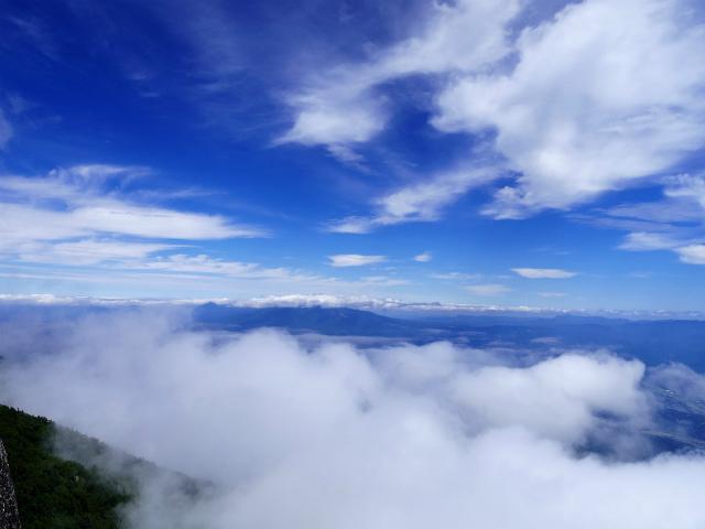 鳳凰三山(広河原~白鳳峠・高嶺)登山口コースガイド 薬師岳山頂からの八ヶ岳の展望【登山口ナビ】
