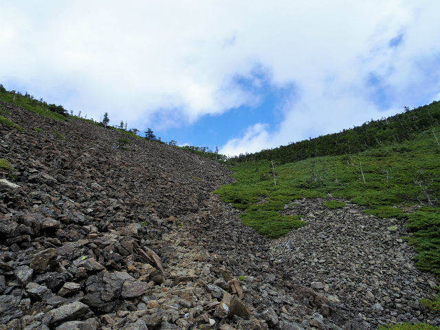 鳳凰三山(広河原~白鳳峠・高嶺)登山口コースガイド 白鳳峠のゴーロ【登山口ナビ】