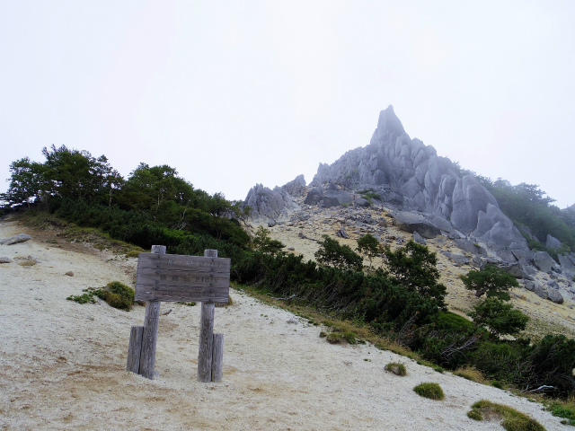 鳳凰三山(広河原~白鳳峠・高嶺)登山口コースガイド 地蔵岳山頂板【登山口ナビ】
