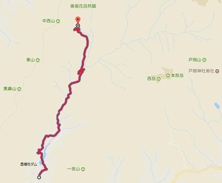 【奥裾花】大川林道の通行規制(全面通行止)地図【登山口ナビ】