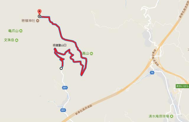 【穂積神社・竜爪山】炭焼平山林道の通行規制地図【登山口ナビ】