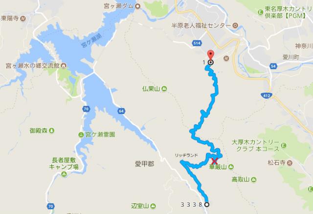 【経ヶ岳・仏果山】法論堂林道の通行規制地図【登山口ナビ】&