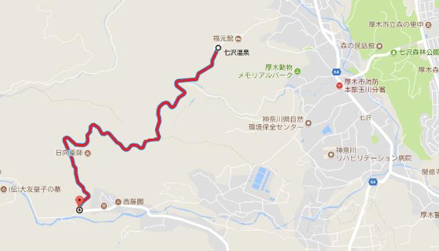 【日向山】薬師林道の通行規制地図【登山口ナビ】&
