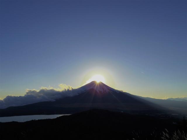 石割山(石割神社) 登山口コースガイド 石割山山頂からのダイヤモンド富士【登山口ナビ】