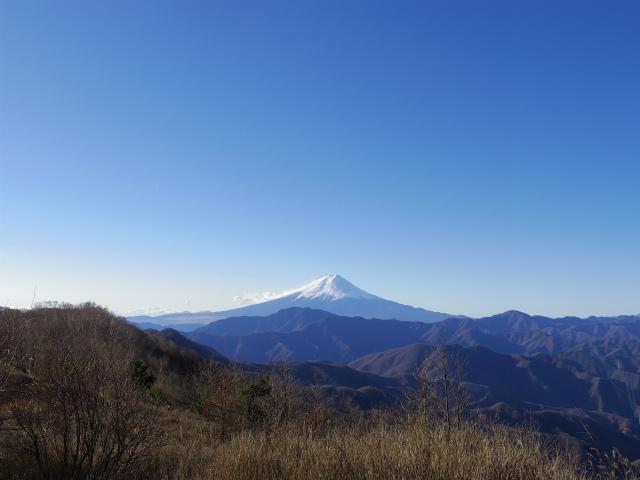 大蔵高丸(湯ノ沢峠コース) 登山口コースガイド 大蔵高丸山頂からの富士山【登山口ナビ】