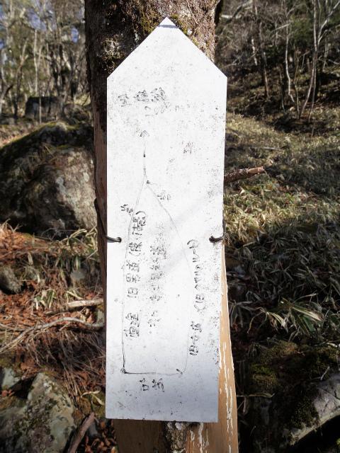 大菩薩嶺(富士見新道) 登山口コースガイド 男坂分岐案内板【登山口ナビ】