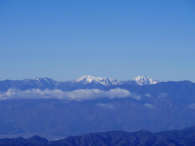 大菩薩嶺(富士見新道) 登山口コースガイド テラス上部から白根三山の眺望【登山口ナビ】