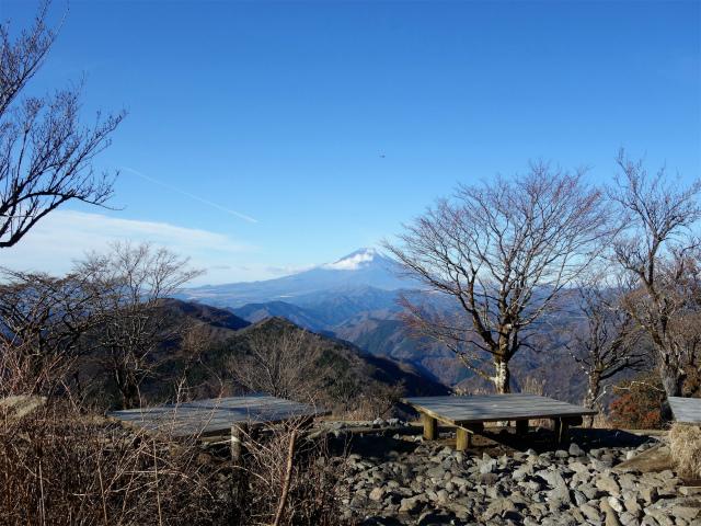 鍋割山(二俣~後沢乗越コース)コースガイド 山頂ベンチ【登山口ナビ】