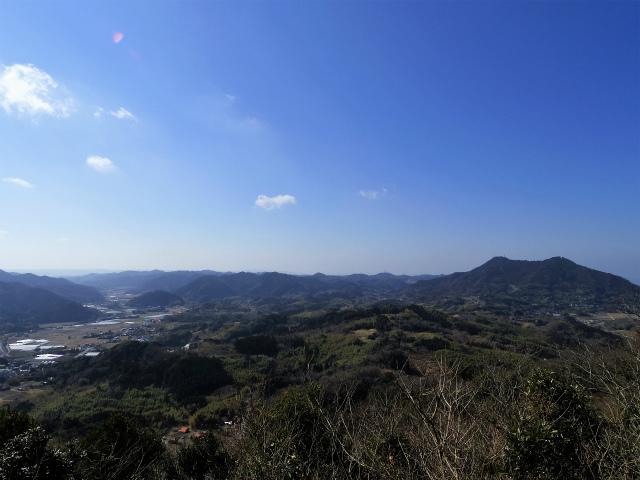 伊予ヶ岳(平群天神社コース) 登山口コースガイド 展望台からの富山の眺望【登山口ナビ】