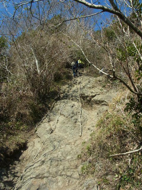 伊予ヶ岳(平群天神社コース) 登山口コースガイド ロープの急登【登山口ナビ】